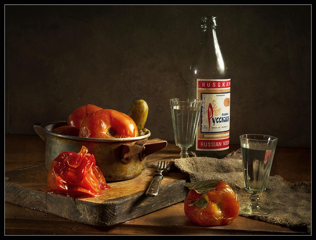 С помидорами бочковыми