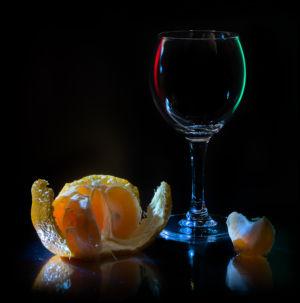 Стекло и мандарин
